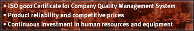 ISO 9001 Certificate for Company Quality Management System Product reliability and competitive prices Continuous investment in human resources and equipment